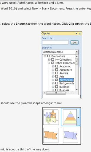 Tutorials for Word - Free screenshot 2