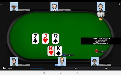 Poker Trainer - Poker Training Exercises 9 تصوير الشاشة