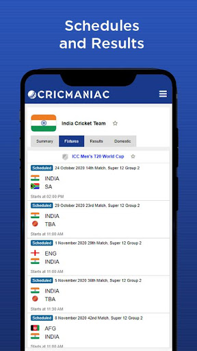 CricManiac - Live Cricket Scores screenshot 4