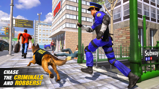 US Police Dog Subway Simulator Games–Crime Chase 1 تصوير الشاشة