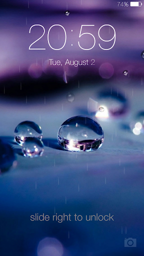 Galaxy rainy lockscreen screenshot 2