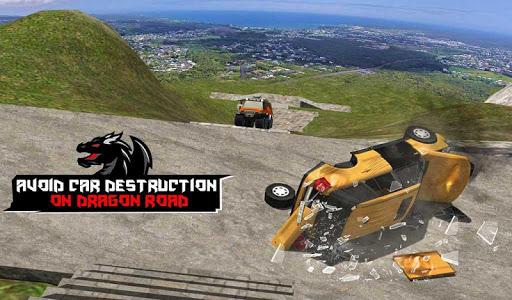 Cruiser Car Stunts: Dragon Road Driving Simulator screenshot 12