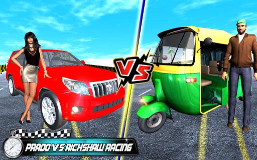 Prado vs Tuk Tuk Auto Rickshaw Racing screenshot 5