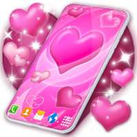 Pink Hearts Live Wallpaper ❤️ Heart Wallpapers on 9Apps