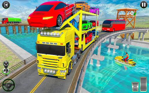 Crazy Car Transport Truck:New Offroad Driving Game screenshot 3