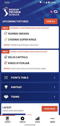 IPL 2020 screenshot 1