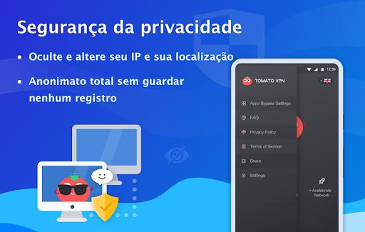 Free VPN Tomato|Proxy VPN de hotspot grátis rápido screenshot 5