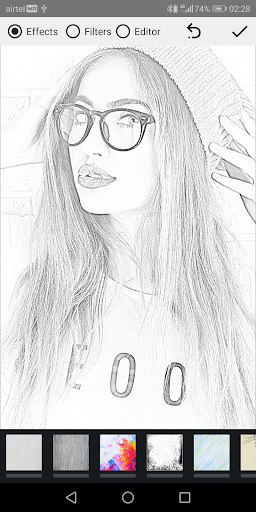 Pencil Photo Sketch-Sketching Drawing Photo Editor screenshot 1