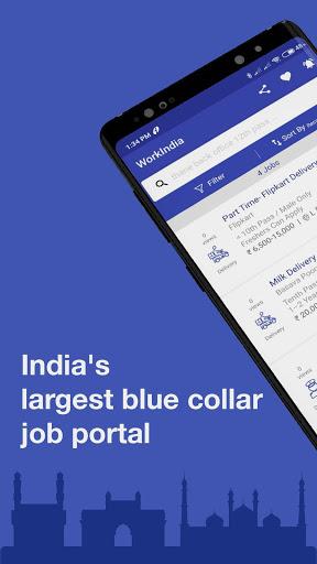 WorkIndia Job Search App - Free HR contact direct 1 تصوير الشاشة