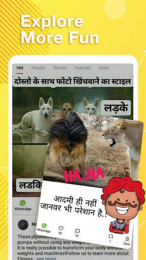 Helo Lite - Download Share WhatsApp Status Videos screenshot 3