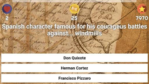 History & Culture Trivia - Demo 3 تصوير الشاشة