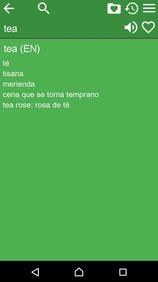 Spanish English Dictionary screenshot 2