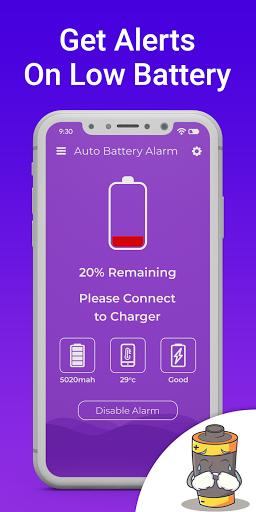 Automatic full charge battery alarm screenshot 3
