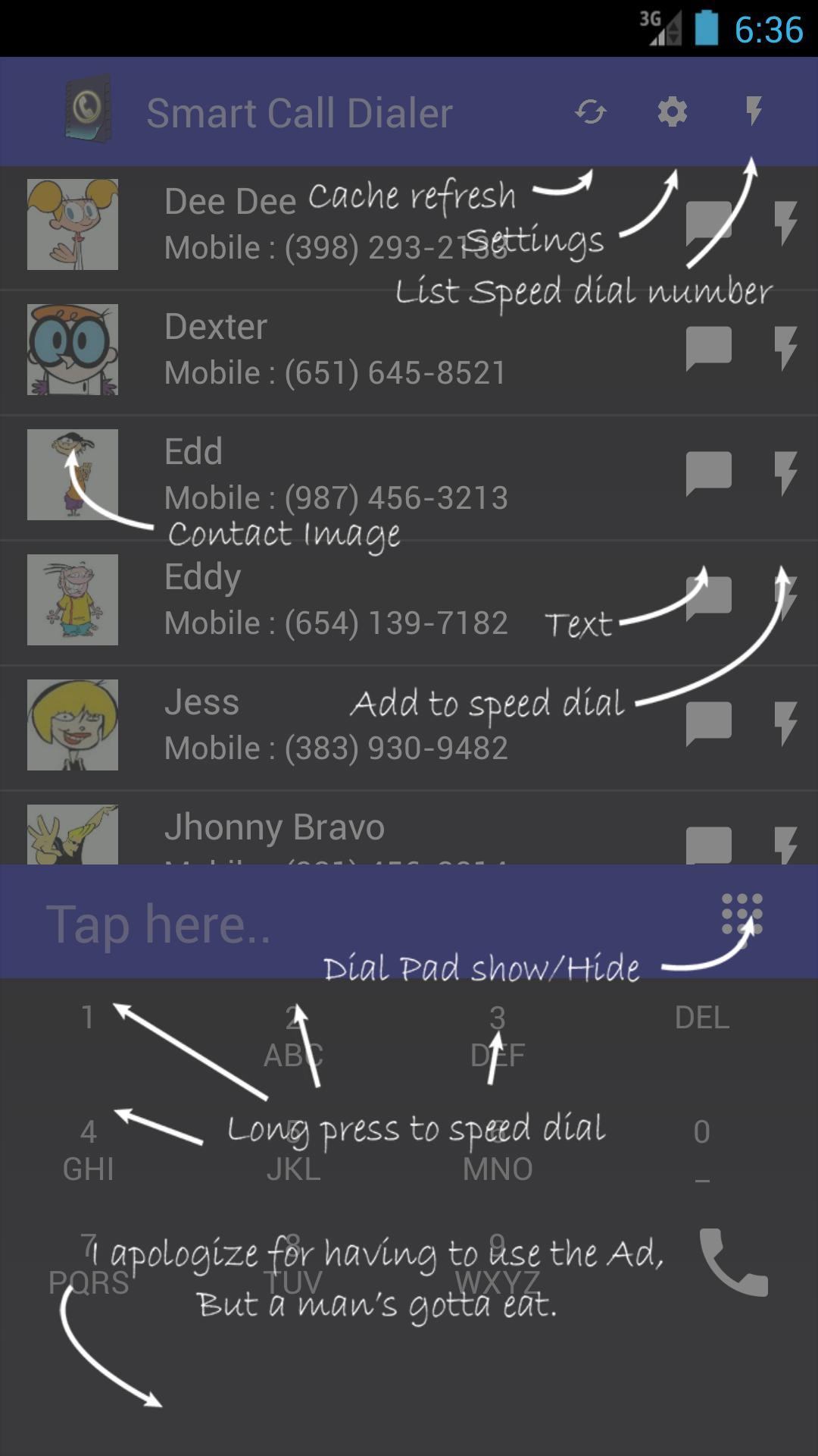 Smart Call Dialer screenshot 1