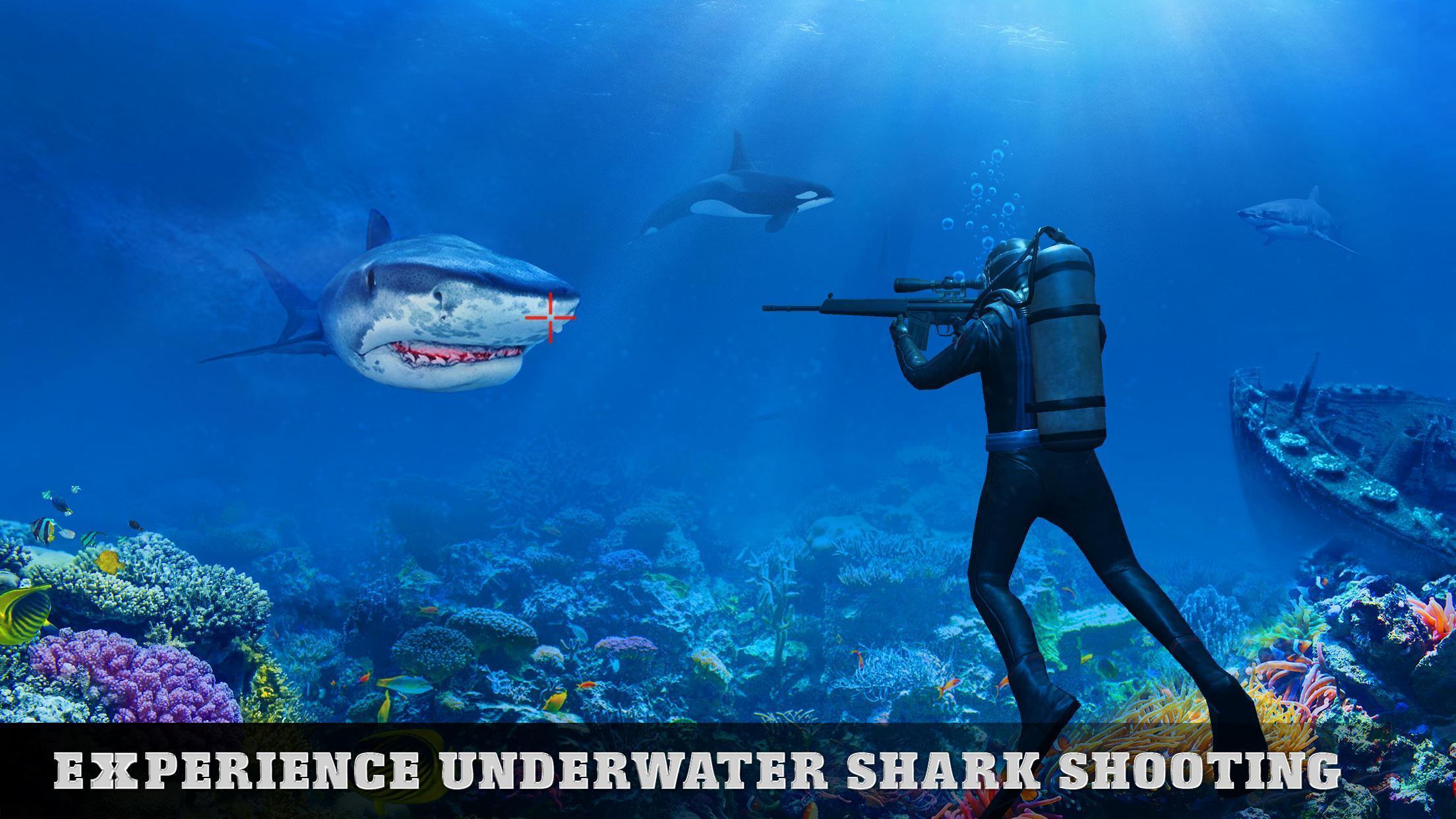 Tiger Shark Attack FPS Sniper Shooter 1 تصوير الشاشة