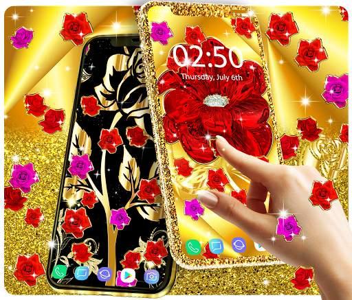 Gold rose live wallpaper screenshot 1