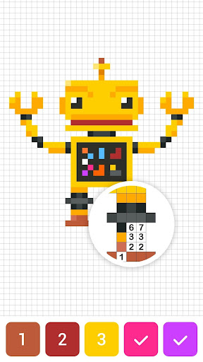 Draw.ly - Color by Number Pixel Art Magic Coloring screenshot 5
