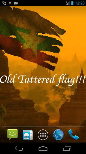 Myanmar Flag Live Wallpaper screenshot 5