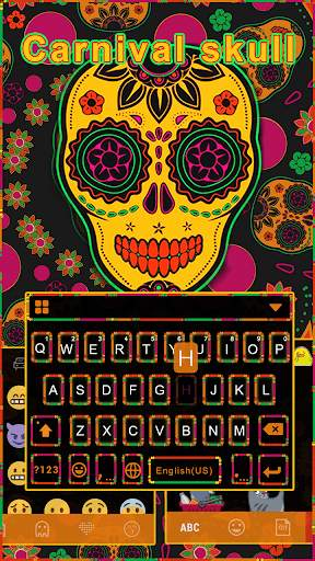 Carnivalskull Keyboard Theme screenshot 1