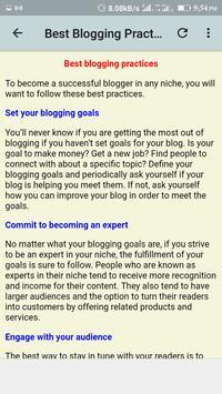 Blogging Guide screenshot 4