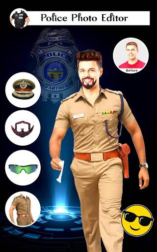 Policer - Men Women Police photo suit Editor Set 5 تصوير الشاشة