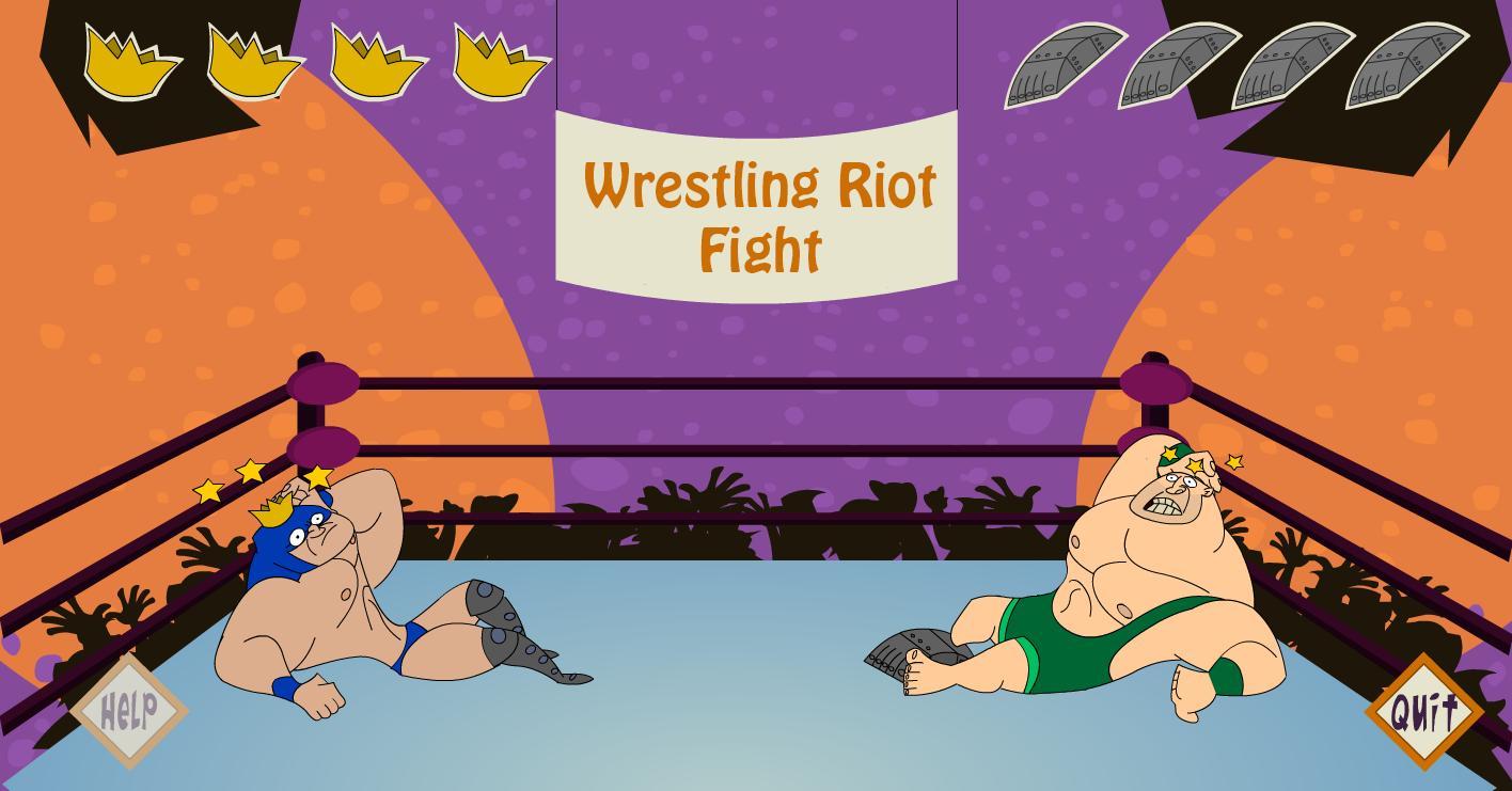 Wrestling Riot Fight 1 تصوير الشاشة