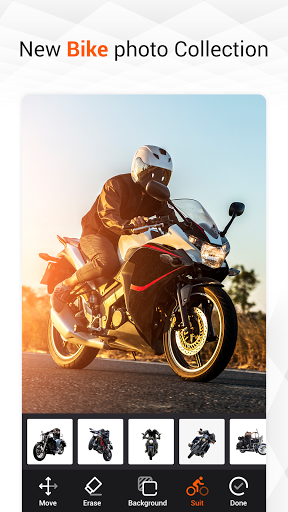 Man Bike Rider Photo Editor - photo frame screenshot 6
