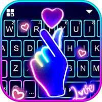 Hình nền bàn phím Love Heart Neon on 9Apps