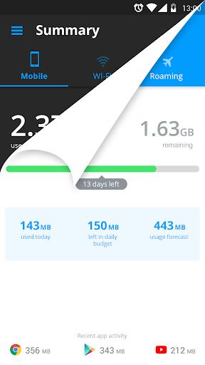 My Data Manager - Data Usage 1 تصوير الشاشة