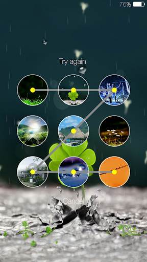 Galaxy rainy lockscreen screenshot 4