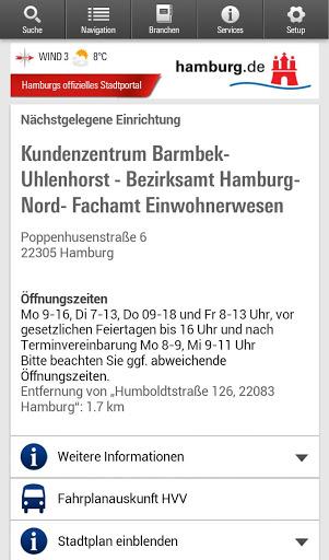 Hamburg App स्क्रीनशॉट 4