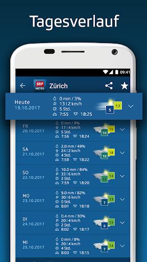 SRF Meteo - Wetter Prognose Schweiz screenshot 3