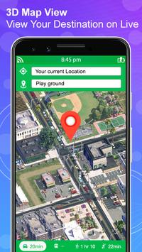 जीपीएस नेविगेशन लाइव उपग्रह दृश्य मानचित्र स्क्रीनशॉट 3