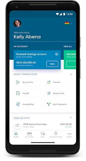 Ecobank Mobile App screenshot 1