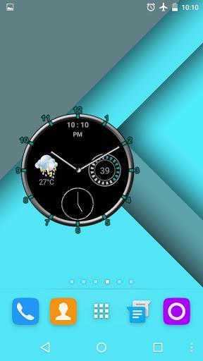 Super Clock Widget [Free] 1 تصوير الشاشة
