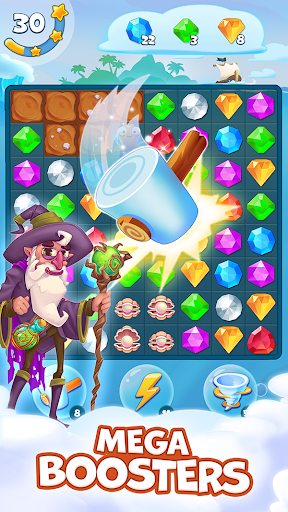 Pirate Treasures - Gems Puzzle 19 تصوير الشاشة