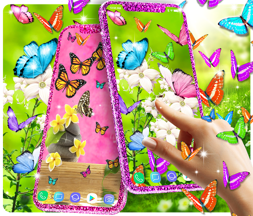 Butterflies live wallpaper 1 تصوير الشاشة