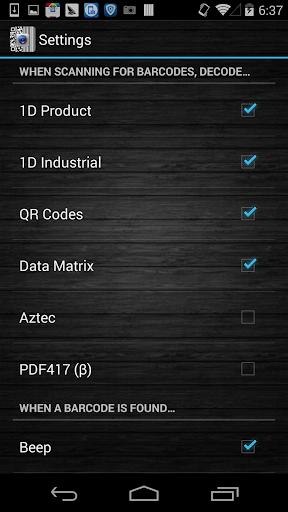 QR barcode scanner screenshot 4