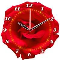 Rose Flower Clock on 9Apps
