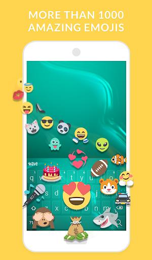 Wave Animated Keyboard + Emoji 3 تصوير الشاشة
