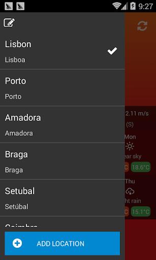 الطقس البرتغال 3 تصوير الشاشة