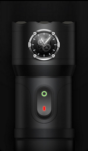 Flashlight Torch with Clock screenshot 1