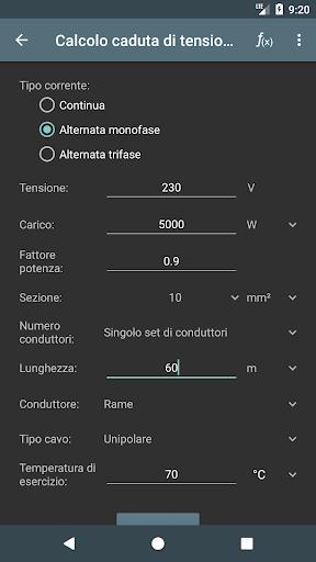 Calcoli Elettrici screenshot 3