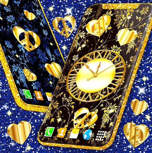 Gold Hearts 4K Wallpaper 💛 Golden live Wallpaper 1 تصوير الشاشة