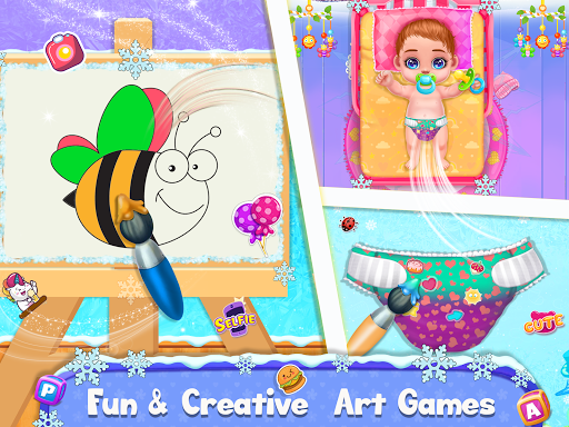 Ice Princess Pregnant Mom and Baby Care Games screenshot 5