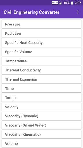 Civil Engineering Converter screenshot 2