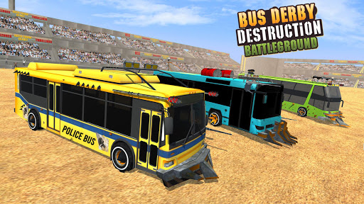 US Police Bus Demolition Derby Crash Stunts 2021 screenshot 6