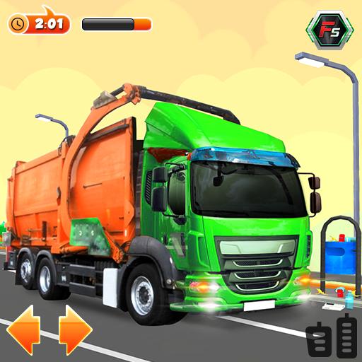 Urban Garbage Truck Driving - Waste Transporter icon
