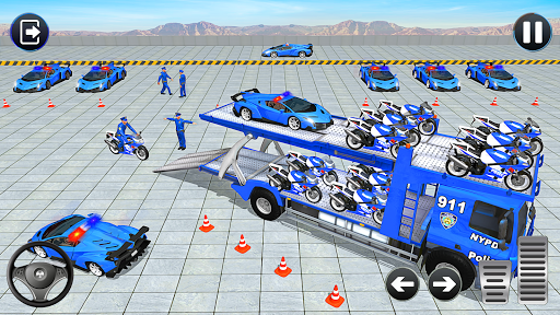 Police Bike Transport Truck screenshot 5