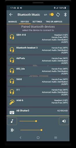 Bluetooth Music  Widget Battery TWS Pods FREE 4 تصوير الشاشة